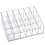 MOSIKER Clear 24 Slots Plastic Lipstick Organizer Small Holder For Vanity And Storage Makeup Organizer For More Cosmetic