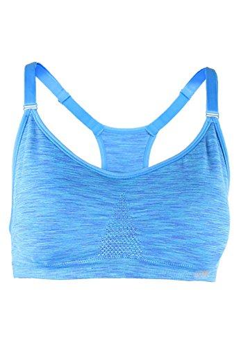 Marika Femme Soutiens-Gorge Tessa Seamless Power Mesh Sports Bra M Blue Bolt Space Dye