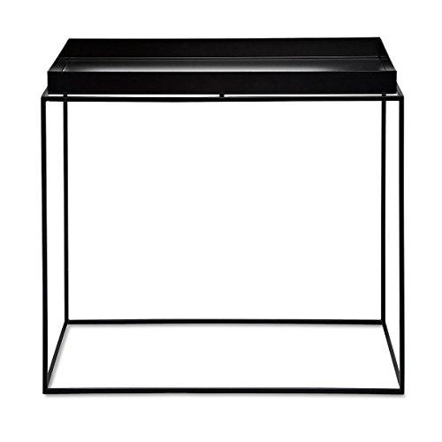 HAY Couchtisch Tray Table - side rect - schwarz, 60 x 40 x 54 Metall Pulverbeschichtet, Couchtisch - Beistelltisch