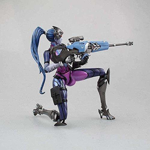 OYQQ Estatua modeloo Juego Heros OW Anime Viudo Statuina En PVC Modelo Móvil Juguete Coleccionable Juego Modelo Juguetes Regalos para Niños 17 Cm