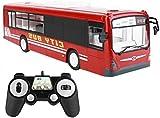 WANIYA1 RC Autobús, 6 Canales Control Remoto Bus Toy Toy Chey One Tecla de Inicio Función RC Coche con Sonido Realista y Ligero City Express Buggy Control Remoto Modelo de automóvil Modelo de Juguete