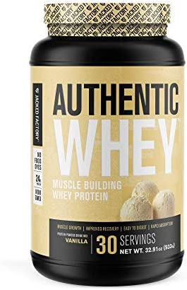 Authentic Whey Muscle Building Whey Protein Powder Low Carb Non GMO No Fillers Mixes Perfectly product image