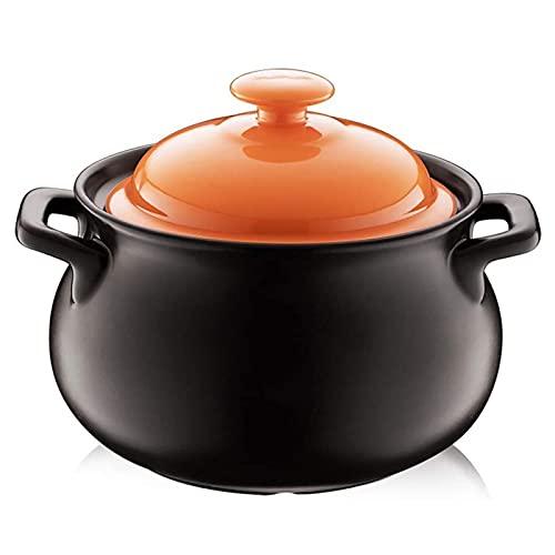 WPHGS 4. 5L durable moldeada Olla plato de aluminio Inducción- Segura antiadherente cacerola con tapa, Hogar resistente a altas temperaturas sopa de olla de cerámica crisol de la sopa Pot