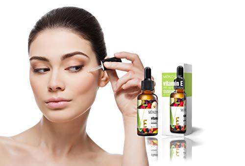 RK RAKAO Luxus Vitamin E Serum - Beauty Set - Gesichtspflege - Hautpflege und Anti Pickel Produkt - Anti Aging - spendet der Haut Feuchtigkeit - Skin Care - weniger Falten - Gesichtsserum - NATÜRLICH