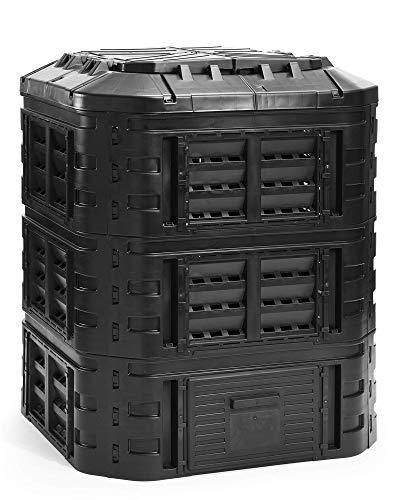 myGardenlust Komposter eckig - Schnellkomposter aus Kunststoff - Thermokomposter als praktisches Stecksystem - Kompostierer stabil und hochwertig - Composter für Garten-Abfälle - 770L