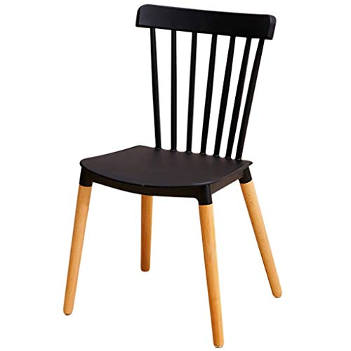 Jokeagliey Chaise de Salle à Manger Minimaliste Nordique, combinée avec Une Chaise Longue en Bois Massif, Forte capacité de roulement et Design Ergonomique, pour Restaurant/Bureau/comptoir/Famille,B