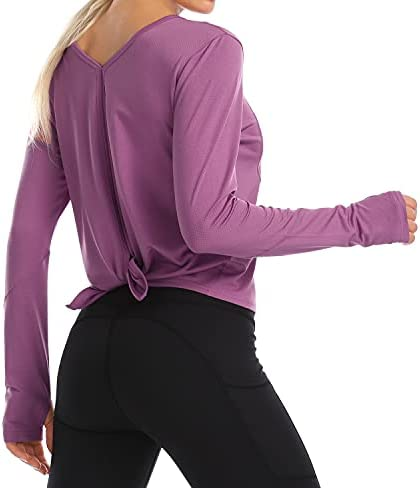 Long Sleeve Workout Shirts for Women Loose Fit...