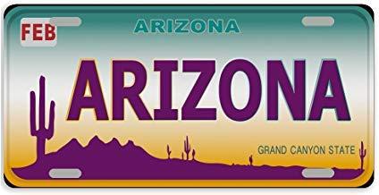 Dant454ty Arizona State Cactus - Marco Decorativo para Placa de matrícula Delantera de Metal para Mujer, para Hombre