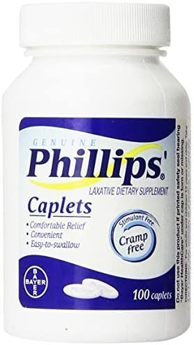 OFFicial store Phillips' Laxative Caplets by Easy-to-use 100-Count