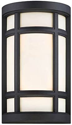 Almond Mica Glass Antique Copper Metal Finish Arroyo Craftsman GS-9LAM-AC Glasgow Long Body Sconce 9