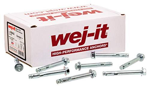 "Wej-It Sleeve-TITE HSA5622 Sleeve Anchor, Carbon Steel, Zinc Plated Finish, Hex Head, Meets GSA FFS-325 Group II Type 3 Class 3, 5/16"" Diameter, 2-1/2"" Length, 1/4""-20 Threads (Pack Of 100)"