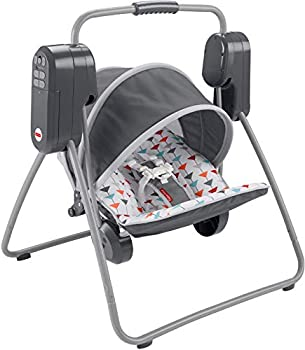 Fisher-Price On-the-Go Swing – soothing baby swing that easily folds and packs for on the go