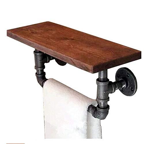 FEN Loft Retro Iron Water Pipe Coat Rack Massief Hout Opslag Rack Kleding Bewaar Planken Hanger/Badkamer Handdoek Rack