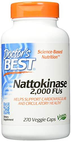 Doctor's Best, Nattokinase, 2000 FUs, 270 Vegetarische Kapseln, Das Original aus dem Japan BioScience Laboratory, ohne Vitamin K, Vegan, GMO-frei, NSK-SD