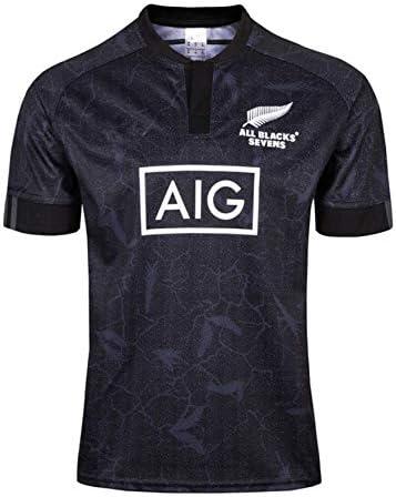 2020 Nueva Zelanda All Blacks Rugby A Siete Vestido De La Camiseta Camiseta,Negro,S