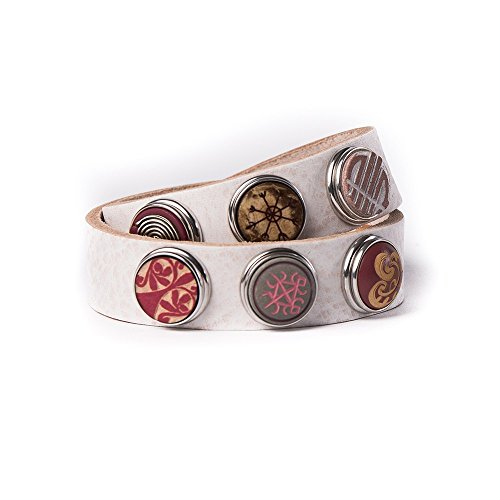 Noosa Armband Wrap Bracelet Double Skinny nude, Grösse:XS