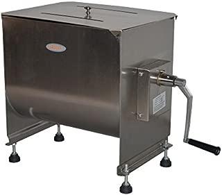Hakka 60-Pound/30-Liter capacity Tank Stainless Steel Manual Meat Mixer (Mixing Maximum 45-Pound for Meat)