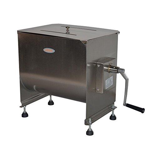 Hakka 80-Pound/40-Liter capacity Tank Stainless Steel Manual Meat Mixer (Mixing Maximum 60-Pound for Meat)