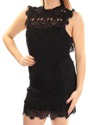 Intimately Free People Womens Daydream Lace Open Back Party Dress Black M