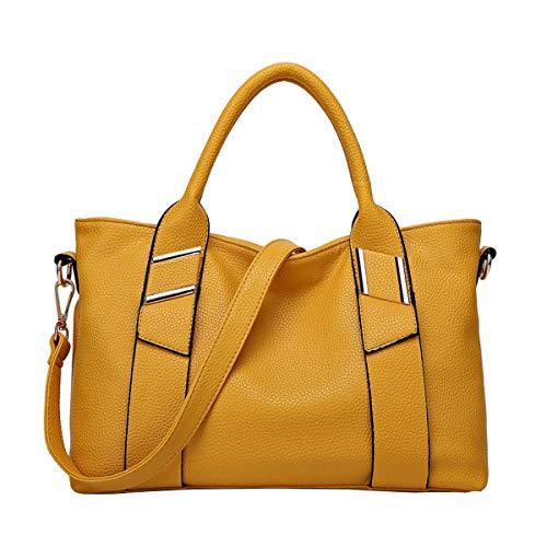 NIYUTA® Sacs portés main Femme de marque Mode Cabas Sacs portés épaule Sacs bandoulière Sac a main FR117 Jaune