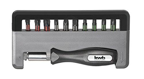 kwb 152010 Bit Box Torsion Phone - 12-TLG. Incl. Supporto di bit e maniglia