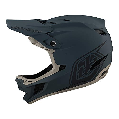 Troy Lee Designs Adult | Downhill | Mountain Bike | BMX | Full Face D4 Composite Helmet Stealth W/MIPS (Gray, MD)