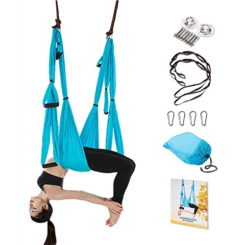 Best Price Aerial Yoga Swing Set - Flying Yoga Hammock Trapeze Sling Kit Antigravity Ceiling Hanging...