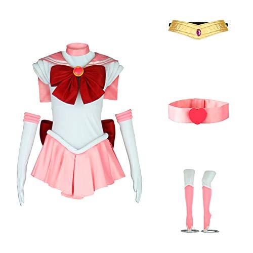 ANOTHERME Damen Kostüm Sailor Moon Chibi USA Chibi Cosplay Outfit Uniform Kleid Anzug weiblich - - X-Large
