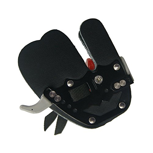 D&Q Super Leather Archery Protective Finger Guard Shooting Tab Protector Right Hand Archery Bowstring Finger Saver Shooting Protective Finger Guards For Recurve Bow Traditional Long Bow Compound Bow