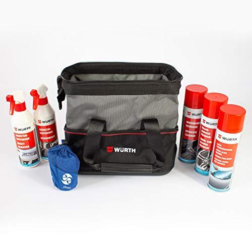 Würth Fahrzeugpflege Einsteiger Set inkl. Tasche und cleasy® Microfasertuch