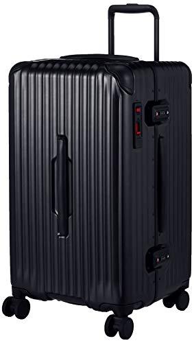 [カーゴ] スーツケース 4~6泊 | レクタ形状 | スリムフレーム | グッドサイズ | CAT68SSR 保証付 60L 5.1kg ジェットブラック
