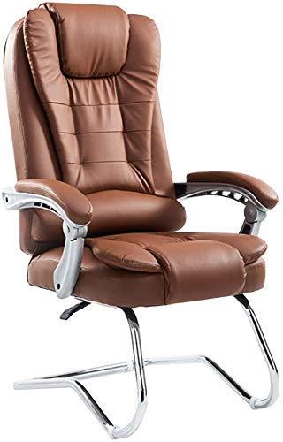 Renovation House Computerstuhl PU-Leder Gaming-Schreibtischstuhl mit hoher Rückenlehne Bogenfuß Liegender ergonomischer Bürostuhl Doppeltes dickes Kissen Computer-Schreibtischstuhl für Arbeitszimmer