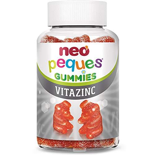 Neo Peques | VITAZINC- 30 Unidades | Gominolas a Base de Vitaminas y Zinc | Tomar 1 o 2 al día | Para Mayores de 3 años | Caramelos Masticables Infantiles con Delicioso Sabor a Fresa