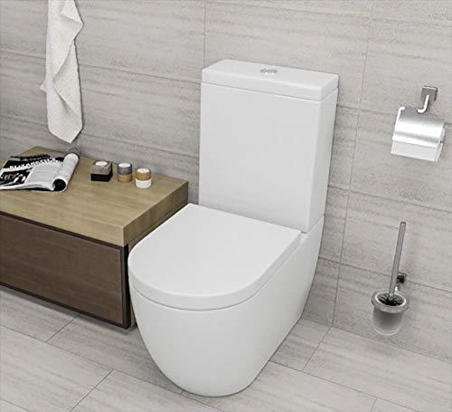 vorich WC con Cassetta Esterna in Ceramica 34x61x81 cm Vortix Bianco