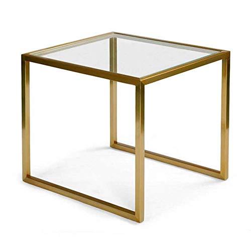 Tavolino Computer Kitchen Table Piccolo Tavolo da Pranzo in Ferro battuto Vetro Divano Laterale Soggiorno Tavolino Camera da Letto Piccola Tabella di tè