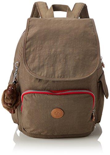 Kipling City Pack, Mochilas para Mujer, Marrón (True Beige C), 32x37x18.5 cm