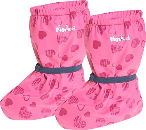 Playshoes Baby , leichte Fleece Krabbel-Schuhe für Jungen und Mädchen, mit Herzchen-Motiv, Pink (Pink 18), M