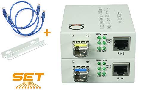 Single Mode LC WDM Single Fiber Bi-Di Gigabit Media Converter -...