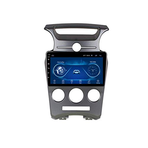 IF.HLMF Radio de Coche de 9 Pulgadas Reproductor MP5 estéreo Android 8.1 Compatible con Kia Carens 2007-2011, Pantalla táctil GPS 2.5D, BT, WiFi, Mirror Link, Sintonizador de Radio (RAM 1G + ROM 16G)