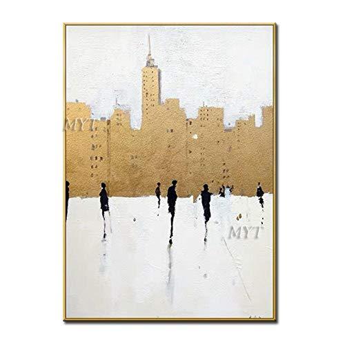 FlduodAbstract olieverfschilderij op canvas muurschilderingen voor pop art schilderijen van hoge kwaliteit in de woonkamer decoration50cmx60cm