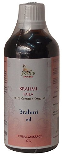 BRAHMI OIL - 100ml (USDA Certified Organic) | Ayurvedic Herbal Massage Oil for Relaxing the Mind - Made with 100% Certified Organic Herbs