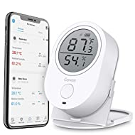 Govee Temperature Humidity Monitor, Bluetooth Room Temperature Monitor, Indoor Thermometer Hygrometer Gauge with Alert, Free Data Export Temp Humidity Sensor for Home Garage Greenhouse Cigar Humidor