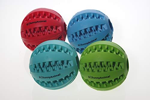 SunnyAnimal Marken Hundeball mit Zahnpflegefunktion aus Naturgummi (Blau)