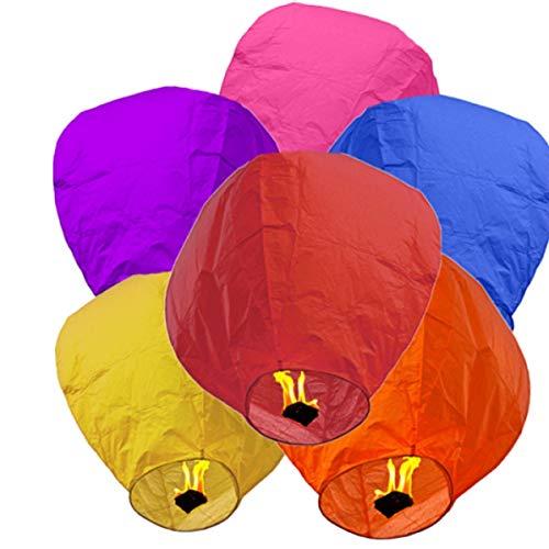 AREA Sky - Farolillos Chinos Volantes de Colores, Mezclados