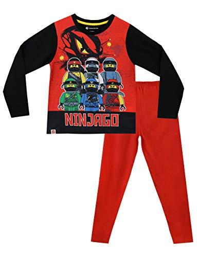 LEGO Ninjago Jungen Schlafanzug Slim Fit, Rot, 128 (Herstellergröße: 7 - 8 Jahre)