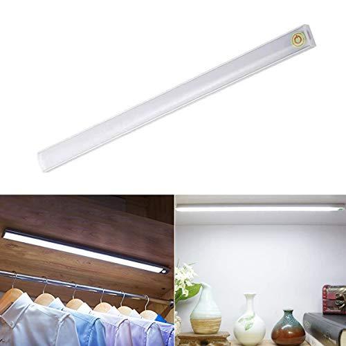 Debajo del gabinete Barra de luces LED Diseño táctil Tubo de luz LED 30CM Regulador de iluminación USB Powered Ward Strip Lámpara de iluminación blanca fresca para closet Armario Cabine Kitchent