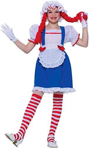 Forum Novelties Child's Rag Doll Costume Set, Large