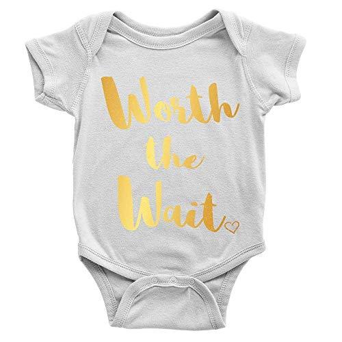 Lplpol Worth The Wait GK1020 - Mono de algodón para bebé unisex, multicolor, 12 meses
