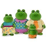 Li'l Woodzeez – Croakalily Frog Family – Juego de 5 Piezas de Juguete con Figuras de Animales en Miniatura y Libro de Cuentos – Juguetes de Animales y Accesorios para niños a Partir de 3 años