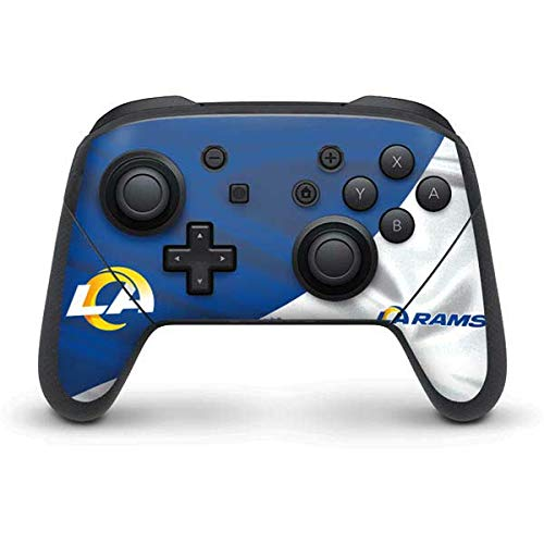 Skinit Decal Gaming Skin Compatible with Nintendo Switch Pro Controller - Officially Licensed NFL Los Angeles Rams Flag Design